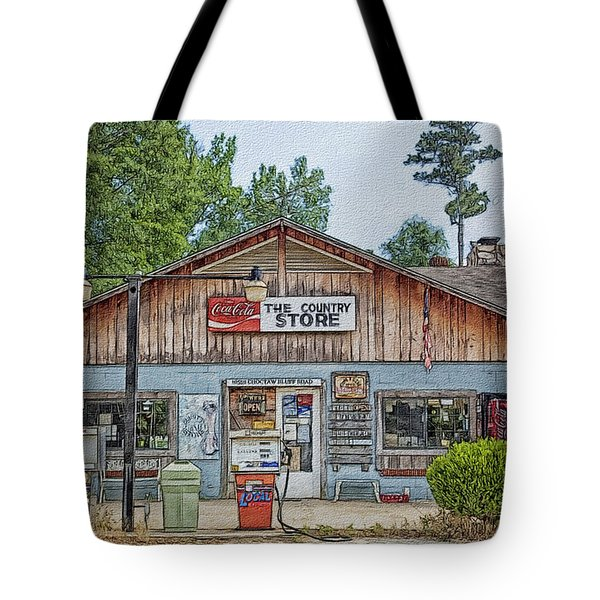 Choctaw Bluff Country Store Tote Bag by Ericamaxine Price
