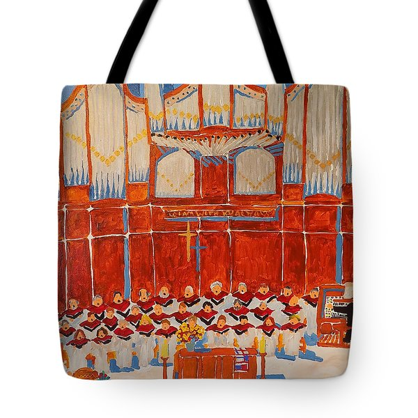 Choir And Organ Tote Bag by Rodger Ellingson