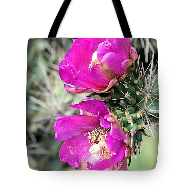 Cholla Blossoms Tote Bag