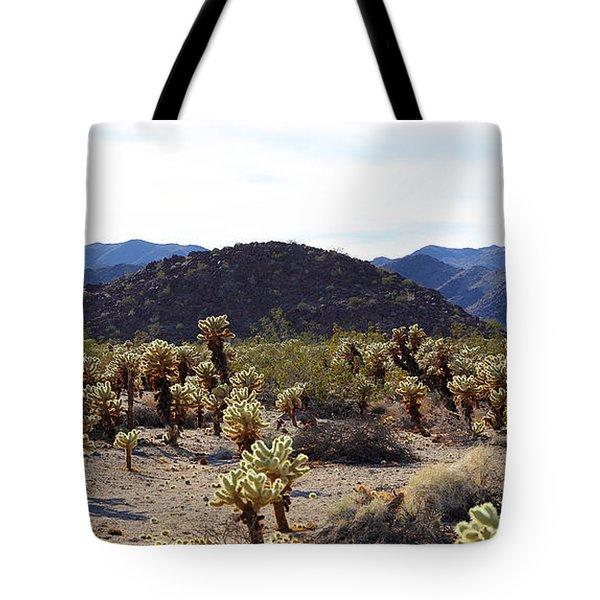 Cholla Cactus Garden Tote Bag by Viktor Savchenko