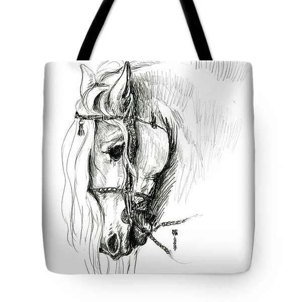 Chomping At Bit - Sketch1 Tote Bag by Shirley Heyn