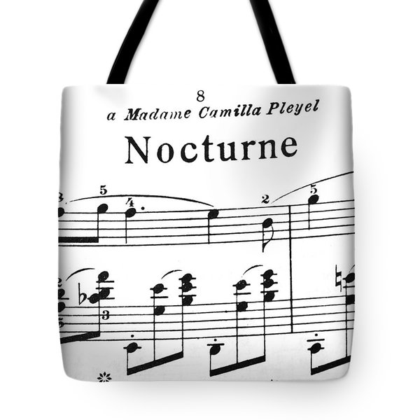 Chopin Nocturne Part 2 Tote Bag
