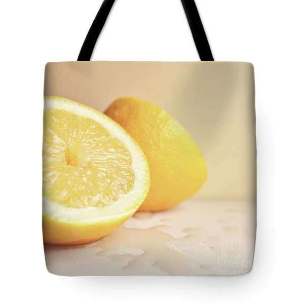 Tote Bag featuring the photograph Chopped Lemon by Lyn Randle