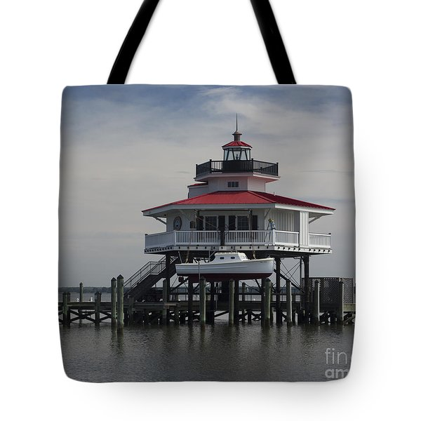 Tote Bag featuring the photograph Choptank River Lighthouse by ELDavis Photography