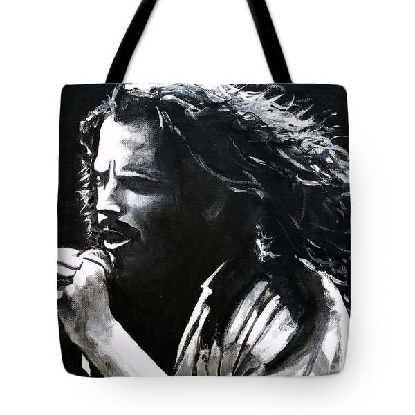 Chris Cornell Tote Bag by Tom Carlton