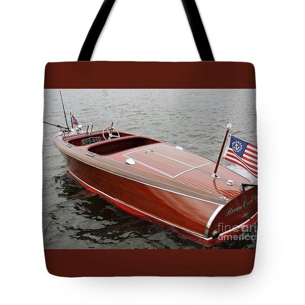 Chris Craft Barrel Back Tote Bag