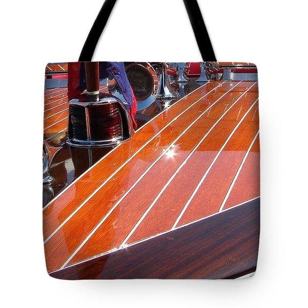 Chris Craft Bow Tote Bag