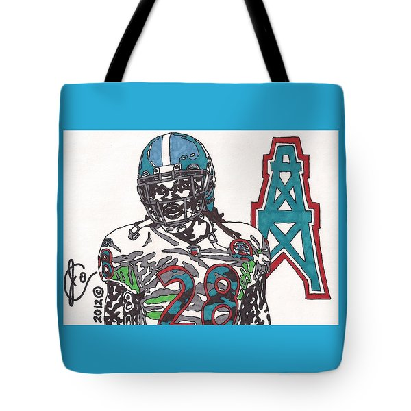 Chris Johnson  Tote Bag by Jeremiah Colley