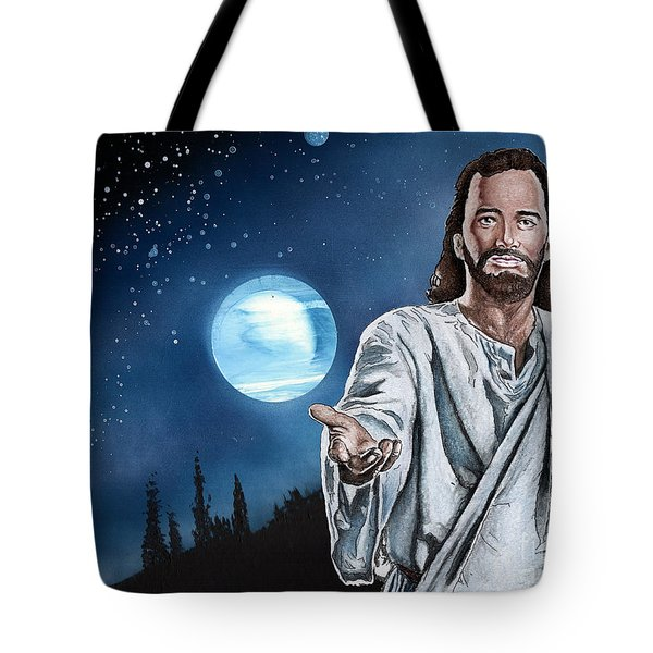 Christ At Night Tote Bag by Bill Richards