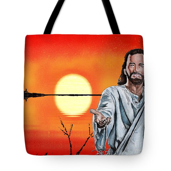 Christ At Sunrise Tote Bag by Bill Richards