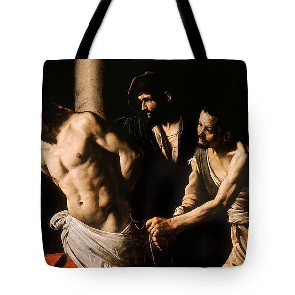 Christ At The Column Tote Bag