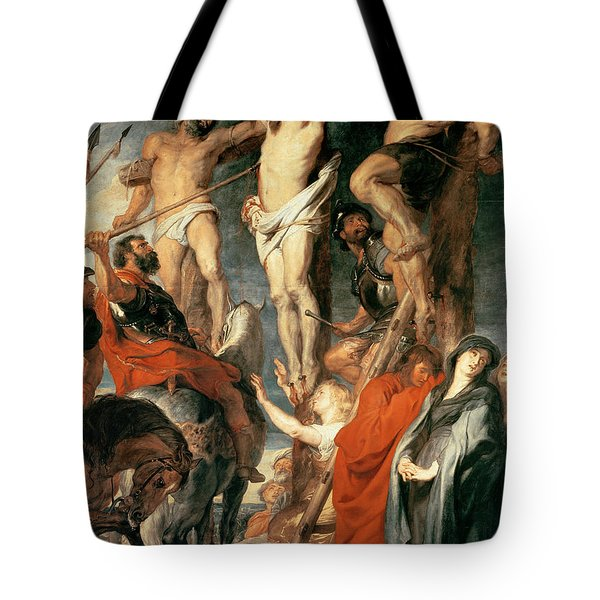 Christ Between The Two Thieves Tote Bag by Peter Paul Rubens