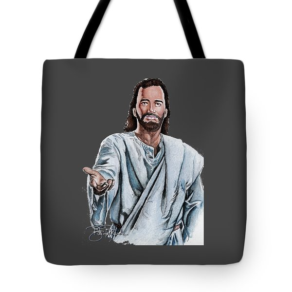 Christ Tote Bag by Bill Richards