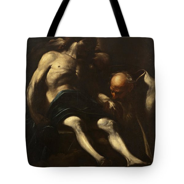 Christ Buried By Joseph Of Arimathea Tote Bag