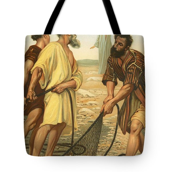 Christ Calling The Disciples Tote Bag by Philip Richard Morris