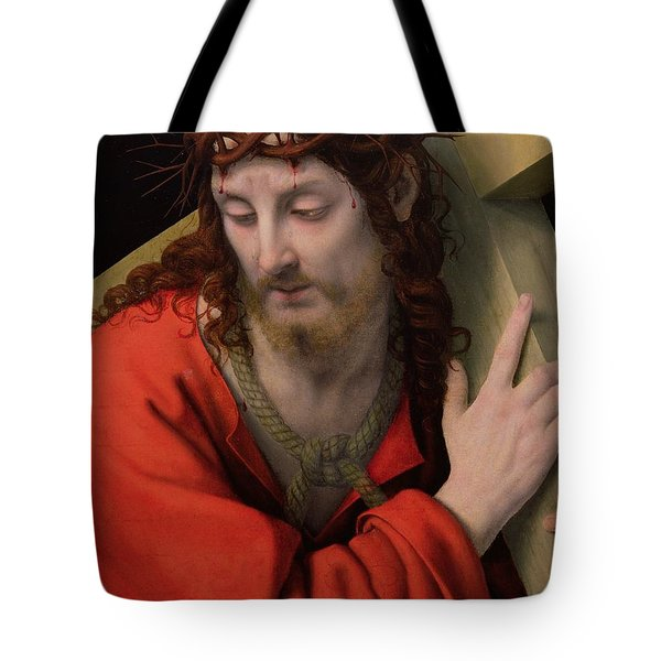 Christ Carrying The Cross Tote Bag by Andrea Solario