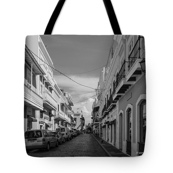 Tote Bag featuring the photograph Christ Chapel Street by Jose Oquendo