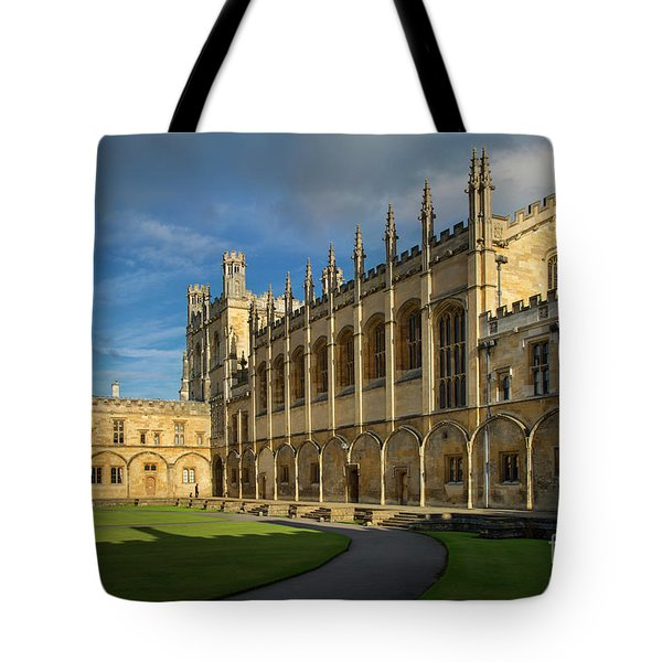 Tote Bag featuring the photograph Christ Church College II by Brian Jannsen