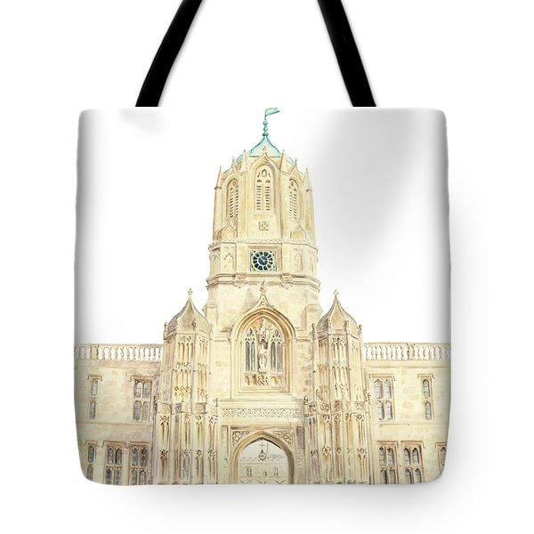 Tote Bag featuring the painting Christ Church by Elizabeth Lock