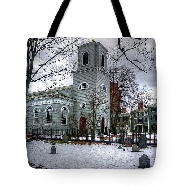 Tote Bag featuring the photograph  Christ Church In Cambridge by Wayne Marshall Chase