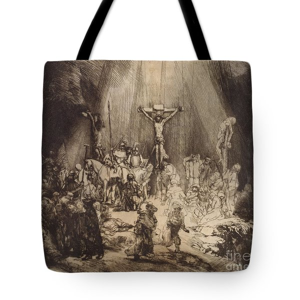 Christ Crucified Between The Two Thieves  The Three Crosses, 1653 Tote Bag