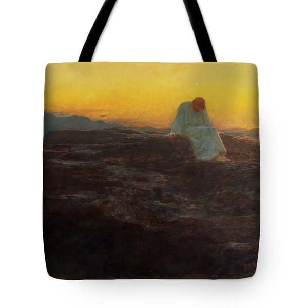 Christ In The Wilderness Tote Bag by Briton Riviere