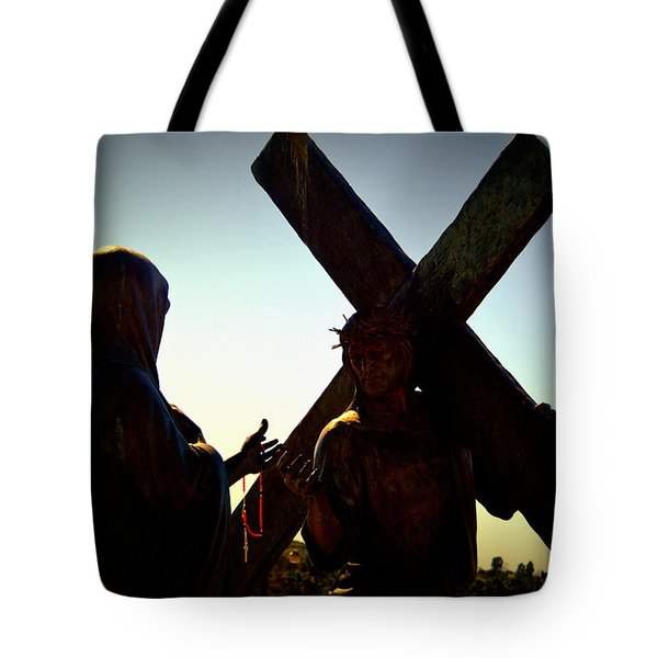 Christ Meets His Mother Tote Bag by Nature Macabre Photography