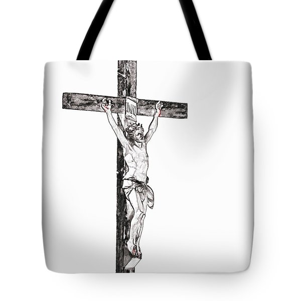 Christ On Cross Tote Bag