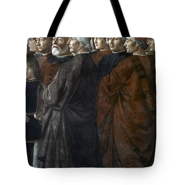 Christ, Peter And Andrew Tote Bag by Granger