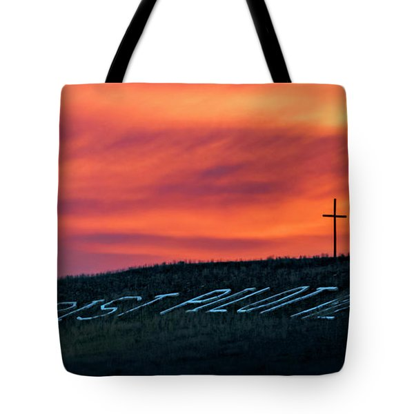 Christ Pilot Me Hill Tote Bag