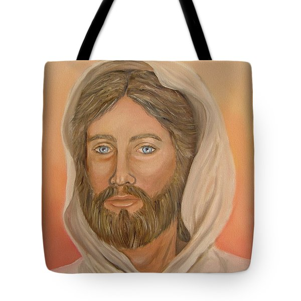 Tote Bag featuring the painting Christ by Quwatha Valentine