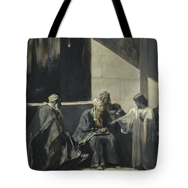 Christ Teaching In The Temple Tote Bag