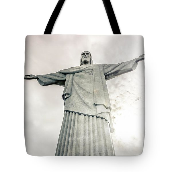 Tote Bag featuring the photograph Christ The Redeemer by Andrew Matwijec