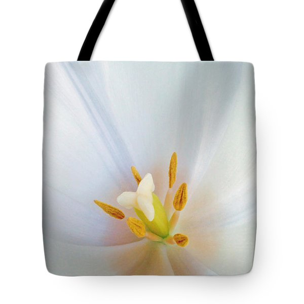 Christened Tulip Tote Bag by Gwyn Newcombe