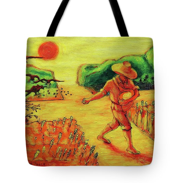 Christian Art Parable Of The Sower Artwork T Bertram Poole Tote Bag by Thomas Bertram POOLE