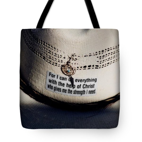 Christian Cowboy Tote Bag