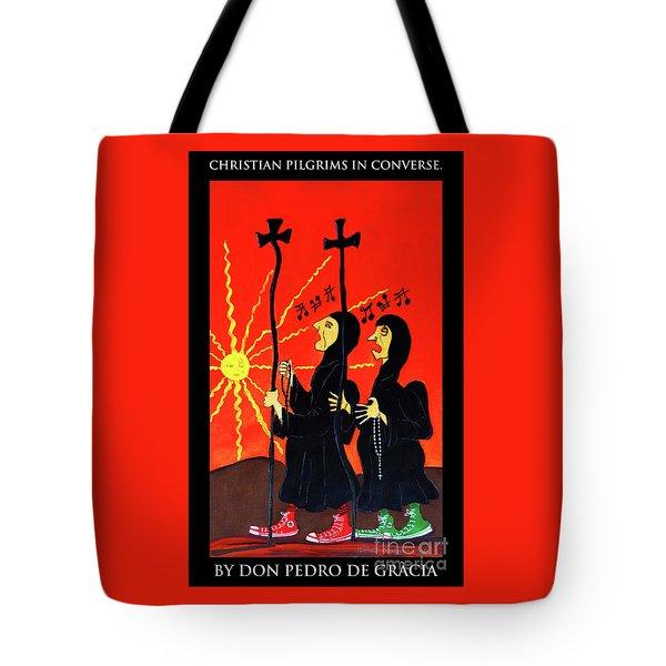Christian Pilgrims In Converse Tote Bag
