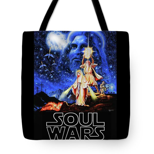 Christian Star Wars Parody - Soul Wars Tote Bag