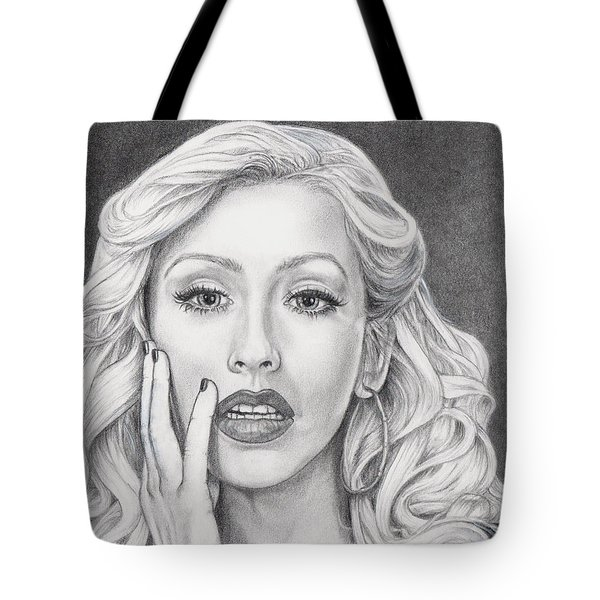 Christina Aguilera Tote Bag