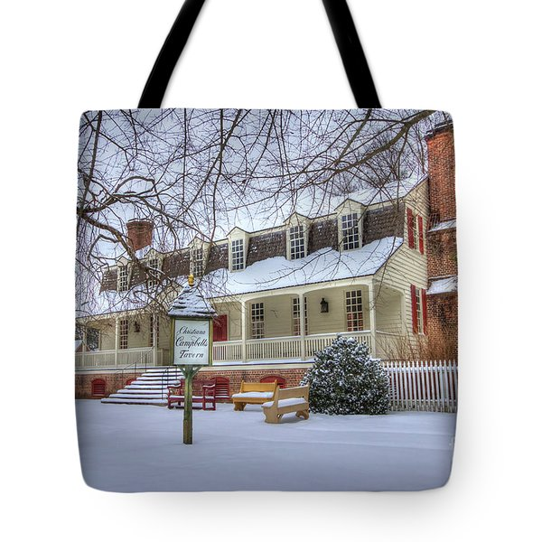 Christina Campbell Tavern Colonial Williamsburg Tote Bag