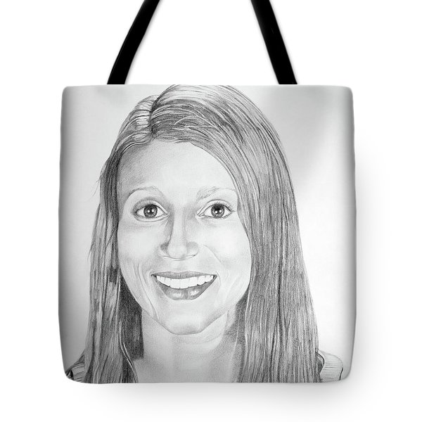 Tote Bag featuring the drawing Christina by Mayhem Mediums