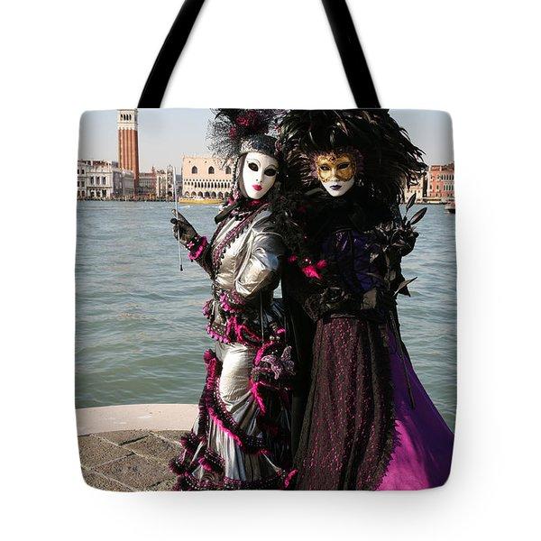 Christine And Gunilla Across St. Mark's  Tote Bag