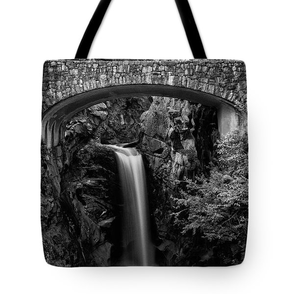 Christine Falls - Black And White Tote Bag