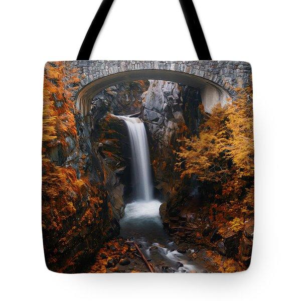 Christine Falls - Digital Oil Tote Bag