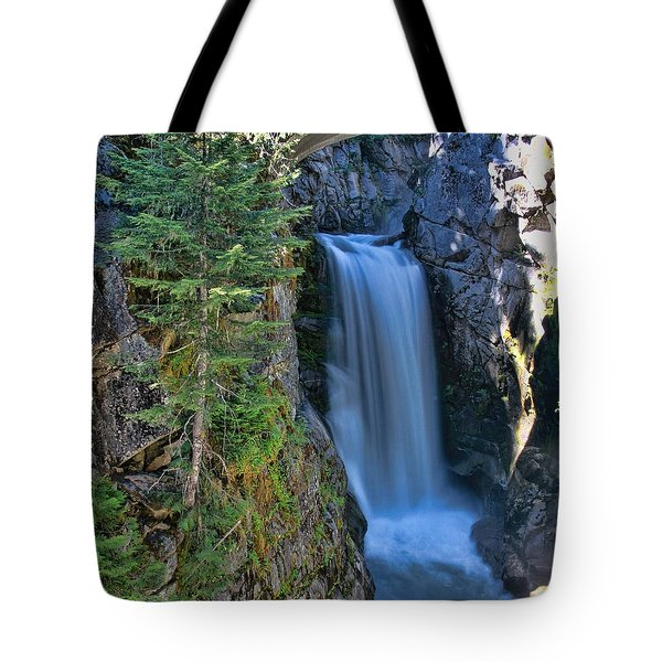 Christine Falls Mount Rainier Tote Bag