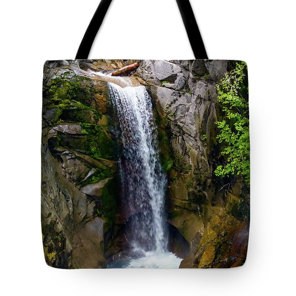 Christine Falls Mt Rainier Tote Bag