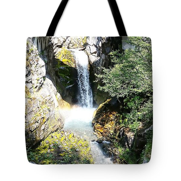 Christine Falls - Mt Rainier National Park Tote Bag
