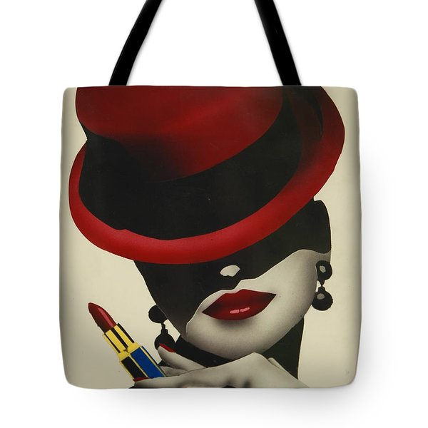 Christion Dior Red Hat Lady Tote Bag by Jacqueline Athmann