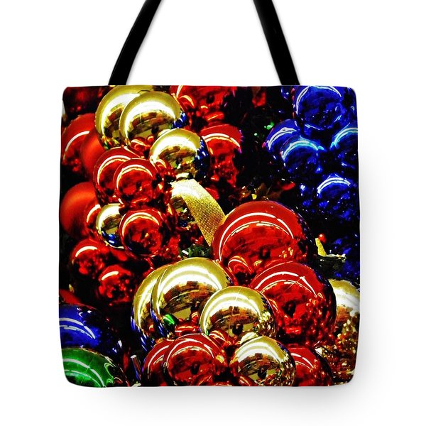 Christmas Abstract 14 Tote Bag by Sarah Loft