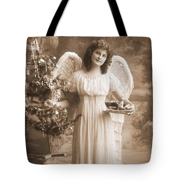 Tote Bag featuring the photograph Christmas Angel by Beauty For God
